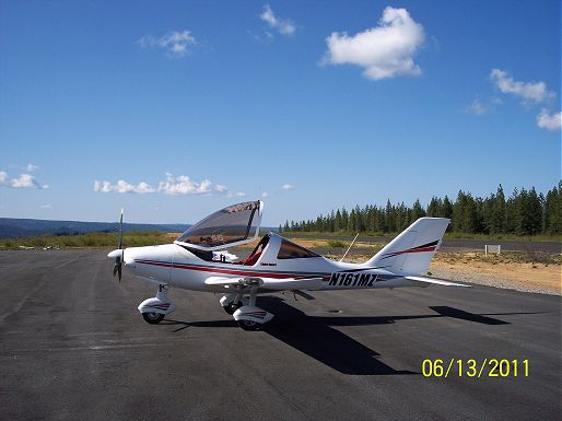 picture of Author DR DeHaven's plane, a Sting Sport