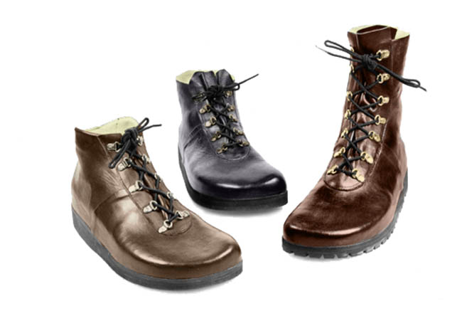 Hand made shoes, boots and sandals by Murray Space Shoe are custom